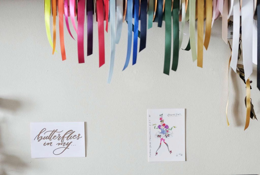 multicoloured ribbons with lots of colors